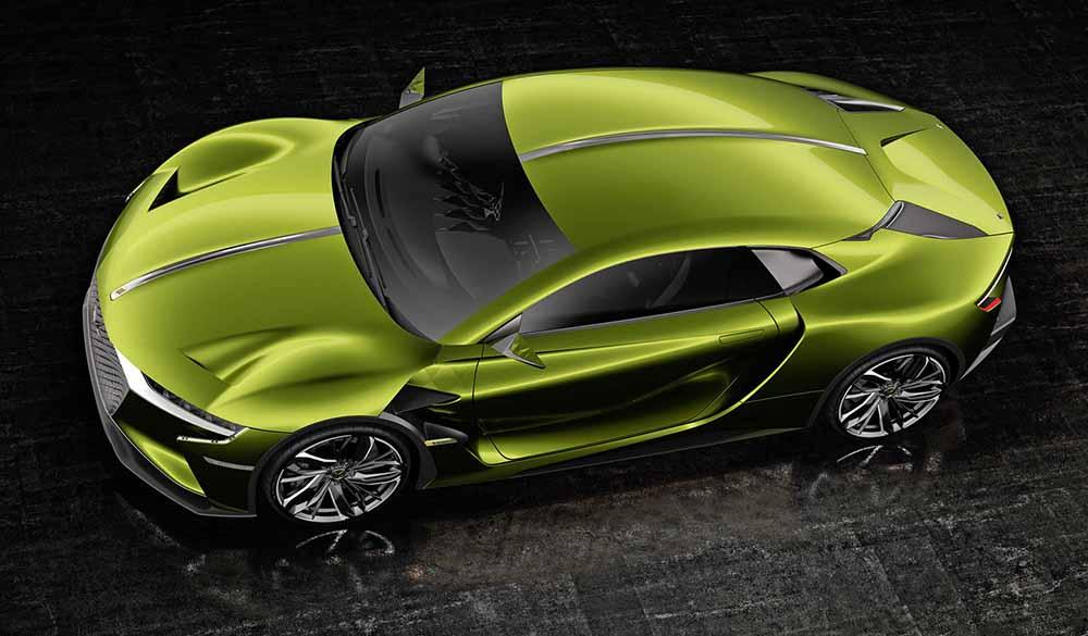 Силуэт концепта является типичным для спортивных авто