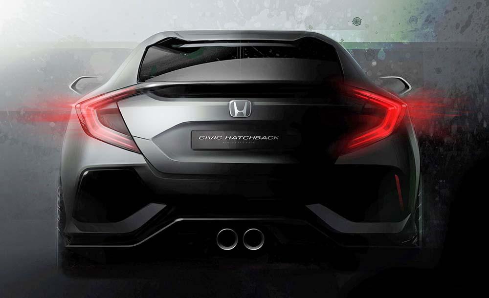 Первый тизер концепта Civic Hatchback
