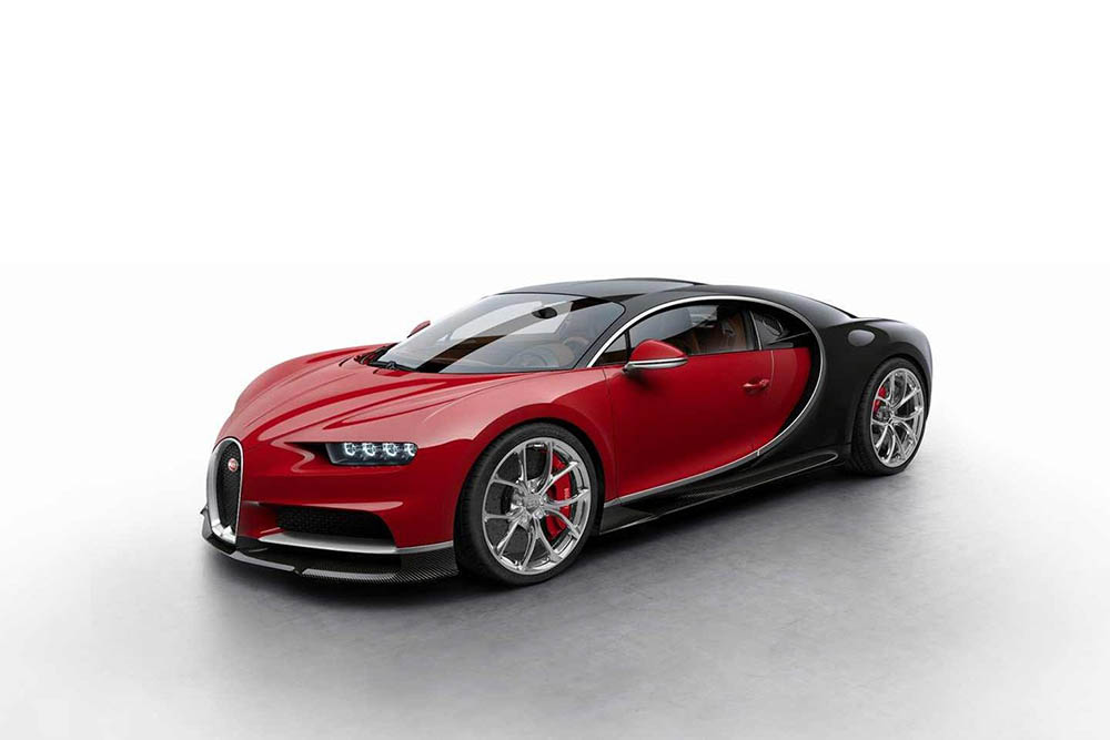 Красно-чёрная расцветка Bugatti Chiron