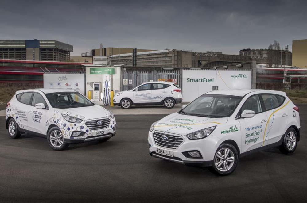 Замена поколения Hyundai ix35 на водородных топливных элементах