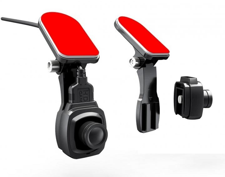 Видеорегистратор с двумя выносными камерами скрытой установки