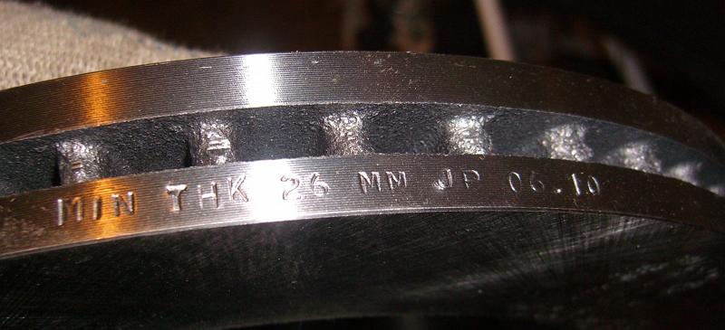 Какая минимальная толщина тормозного диска считается допустимой (3500)