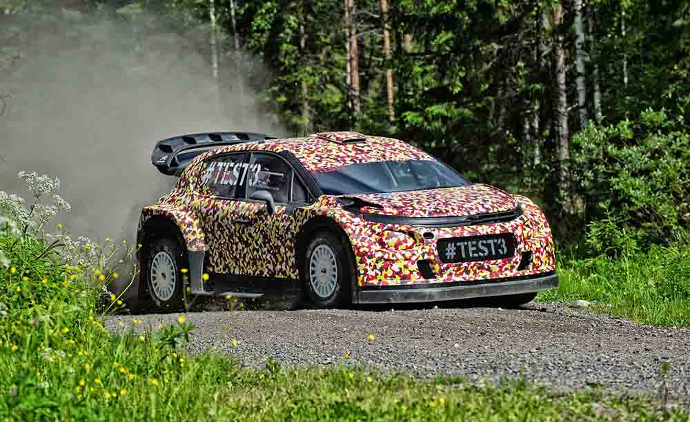 Citroen C3 WRC на испытаниях в Финляндии