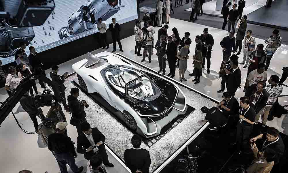 Концепт FFZero1 от Faraday Future экспонируется на автосалоне в Пекине в апреле