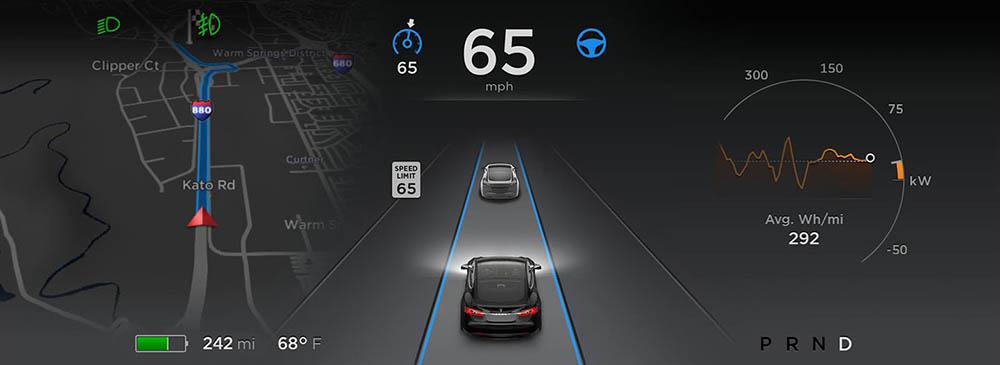 Панель навигации с информацией о дорожном движении в режиме реального времени