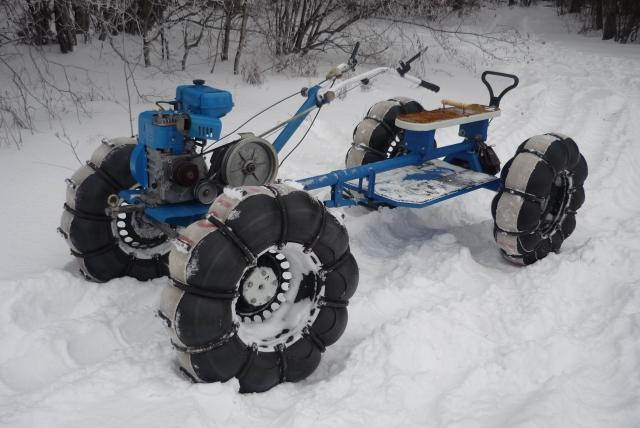 Снегоходы на пневмоходу своими руками видео