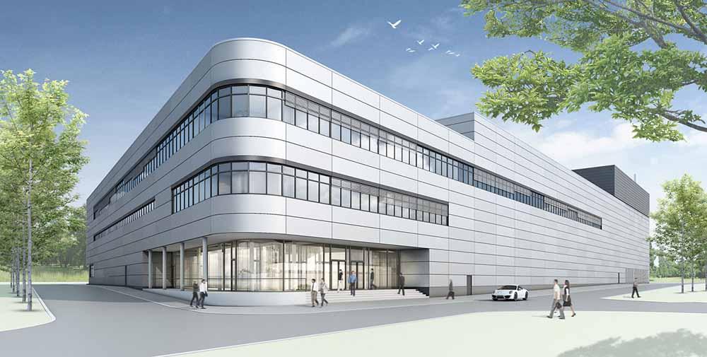 Новый завод является двухэтажным, передняя офисная часть — в три этажа