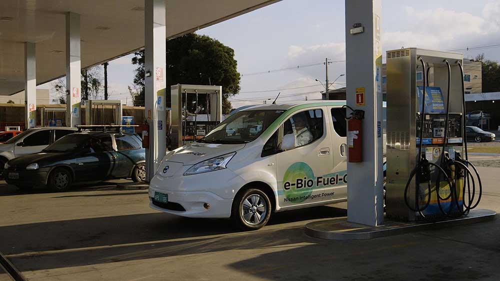 Для дозаправки биоэтаноловых электромобилей уже есть инфраструктура