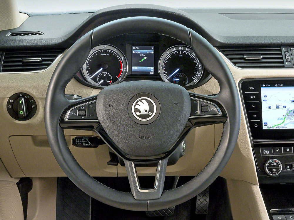 Приборная доска и рулевое колесо