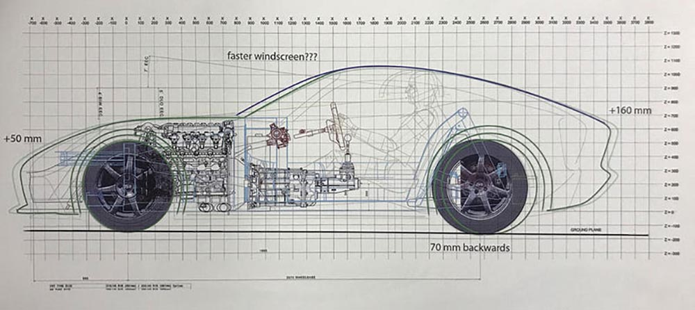Переднемоторная компоновка автомобиля компании TVR