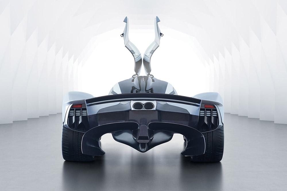 Aston Martin Valkyrie сзади