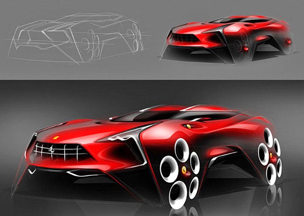 Эскиз будущего кроссовера Ferrari