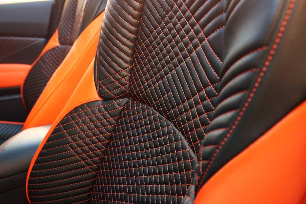Ромбовидная прошивка сидения