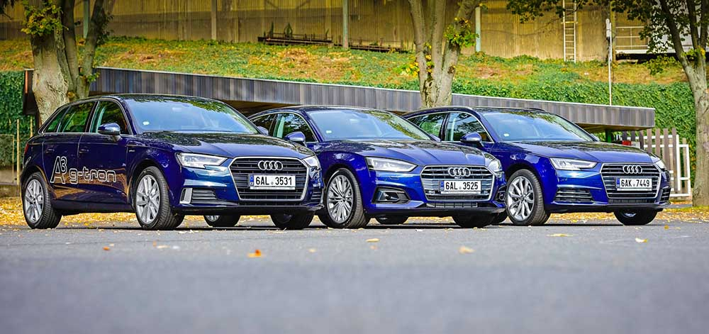 Audi A3, A4 и A5 g-tron