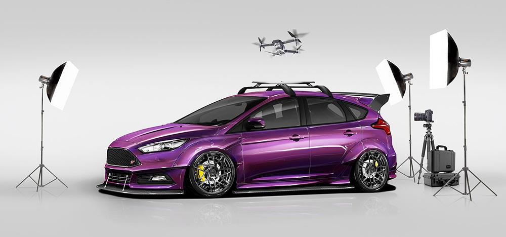 Фиолетовая версия Focus ST