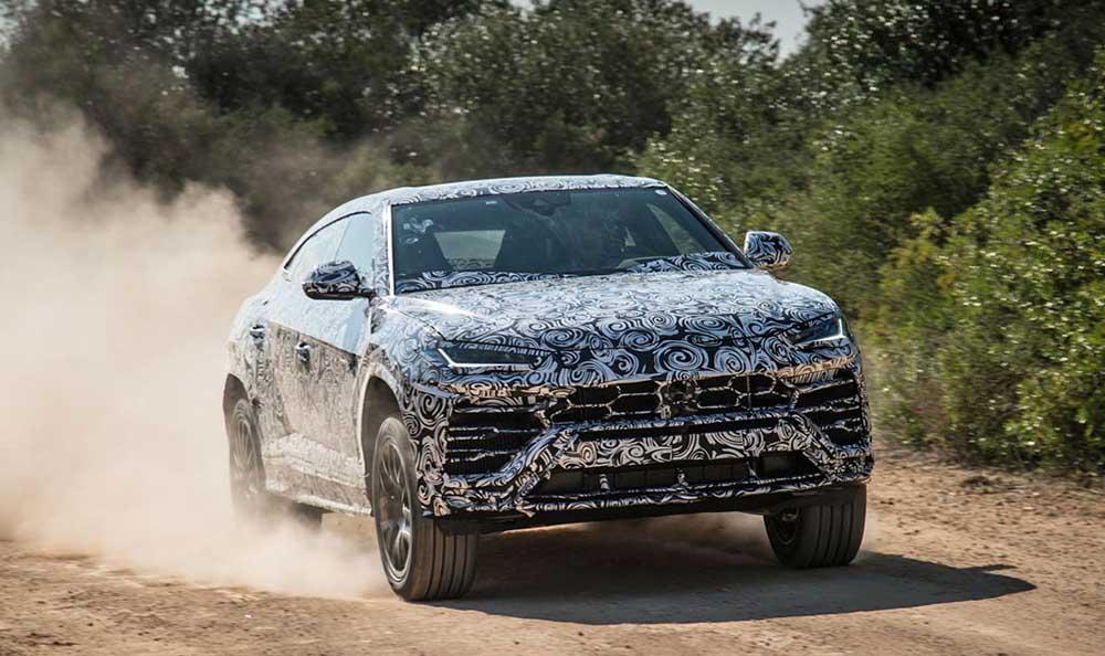 Lamborghini Urus: внешний вид пока закамуфлирован
