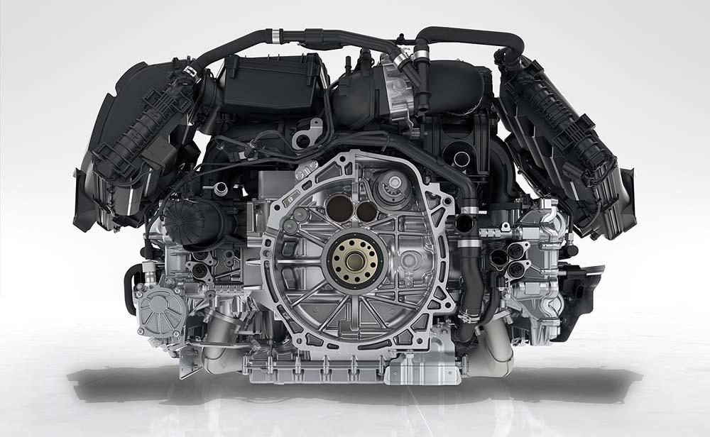 Плоский четырёхцилиндровый мотор