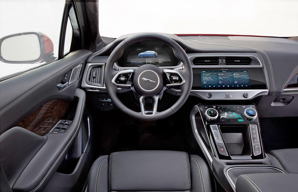 Элементы управления Jaguar I-Pace
