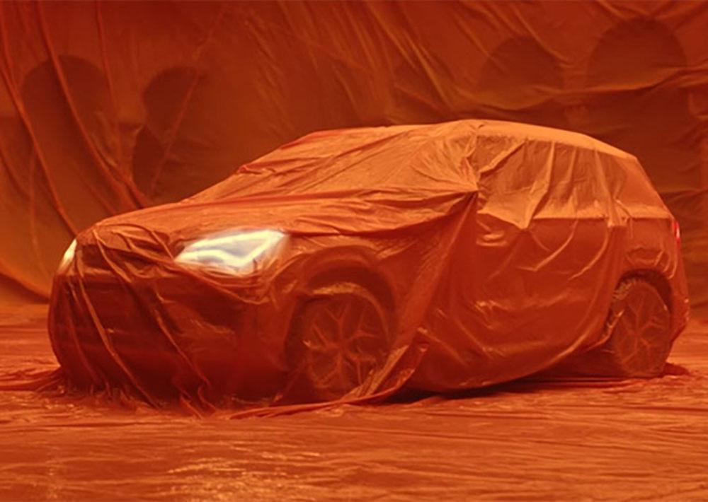 Силуэт и графика светодиодных фар полностью накрытого авто