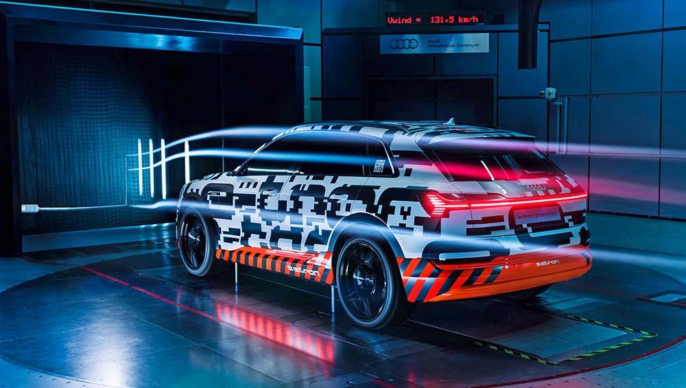 Улучшенная аэродинамика Audi e-tron