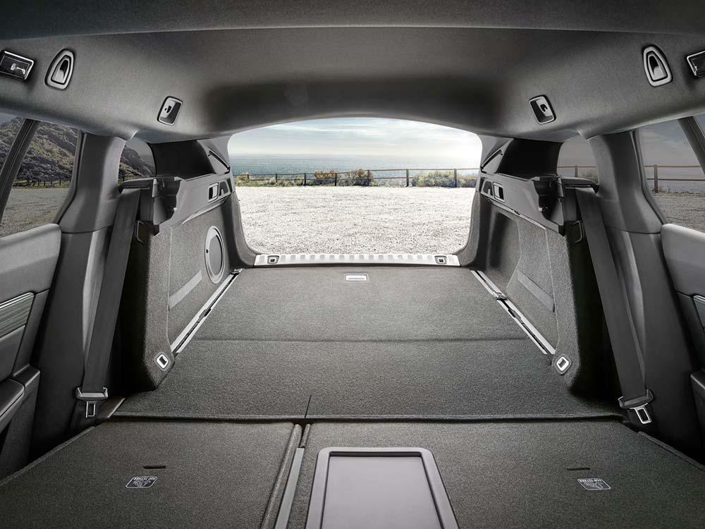 Багажное отделение со сложенными сиденьями