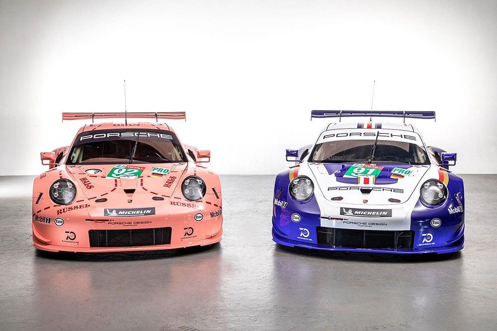 Два современных купе 911 RSR