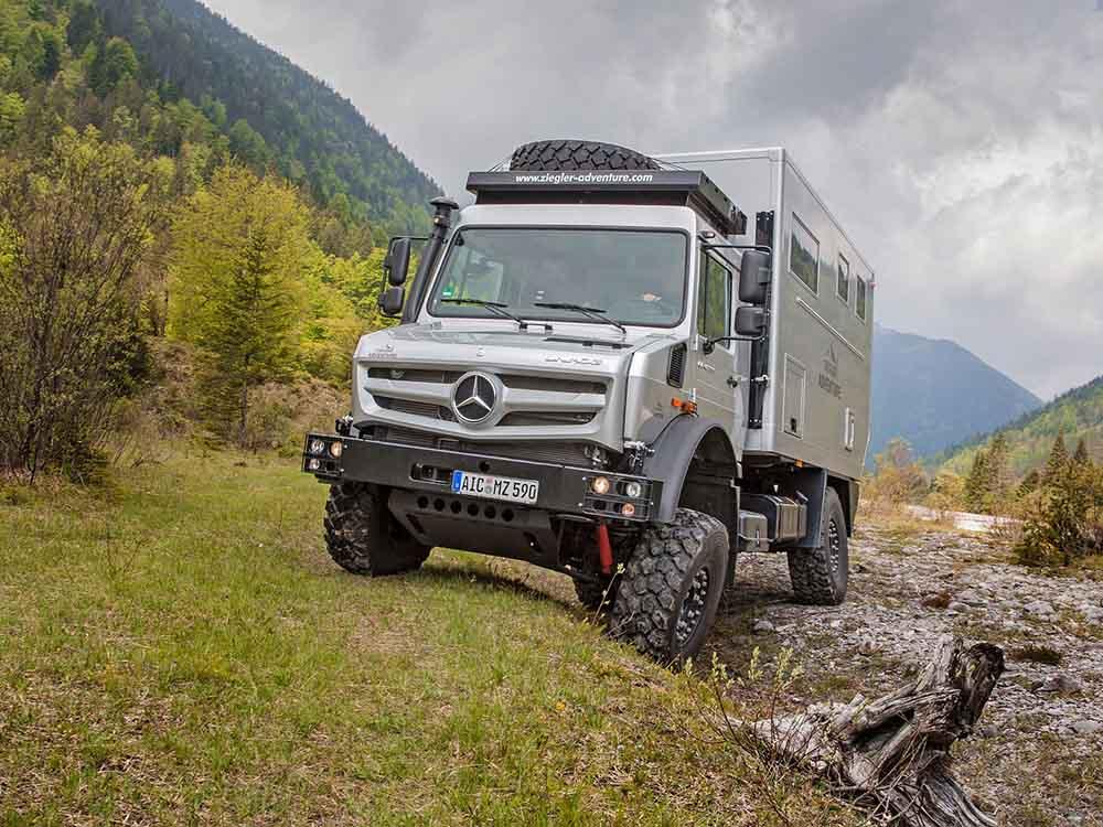 Автодом Moghome компании Ziegler Adventure на базе Mercedes-Benz Unimog U 4023