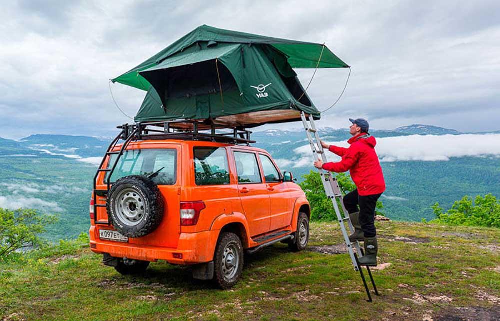 За дополнительную плату можно заказать палатку на крышу