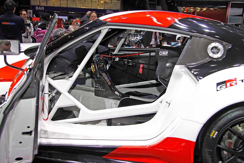 В салоне Toyota GR Gazoo Racing
