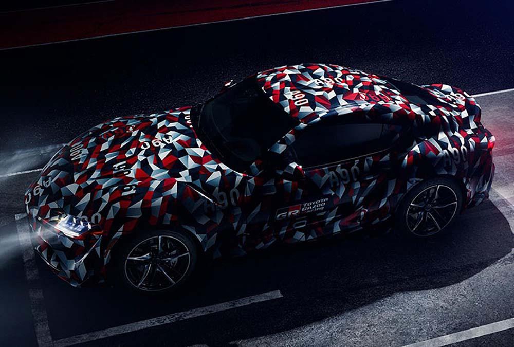 Серийная Toyota Supra в камуфляже в цветах заводской команды