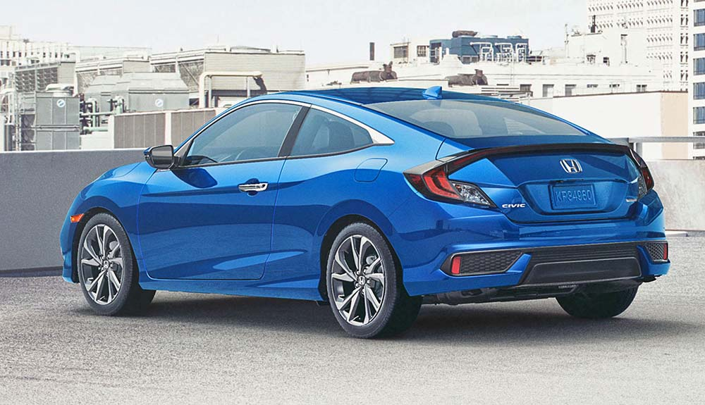 Задняя часть Honda Civic Coupe Sport