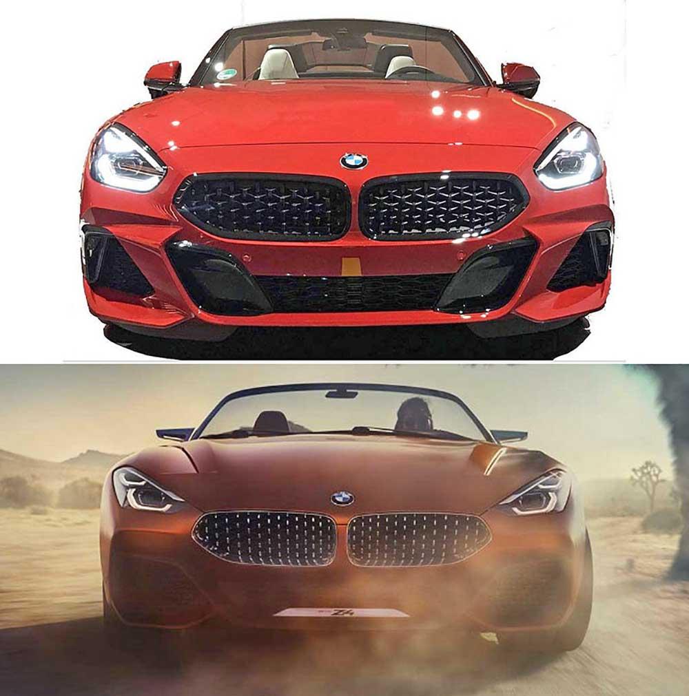 Сравнение серийного авто с концептом
